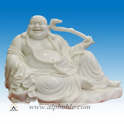 Marble laughing Buddha statue SS-342