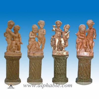 Marble children garden ornaments SS-049