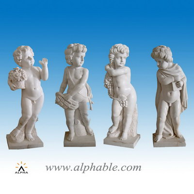 Marble boy four season statues SS-188
