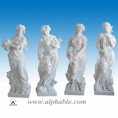 Large white marble sculpture SS-304