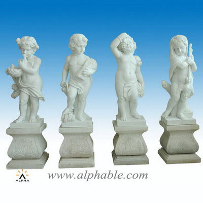 Carved carrara marble sculpture SS-310