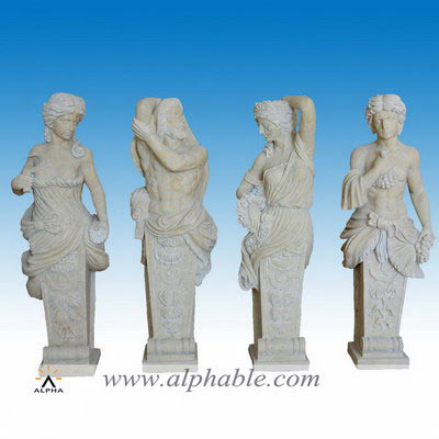 Antique travertine yard sculptures SS-325