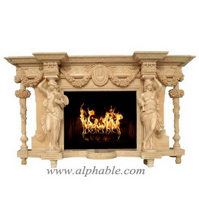 Luxury marble fireplace SF-116