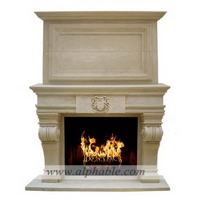 Carved stone overmantel SF-175