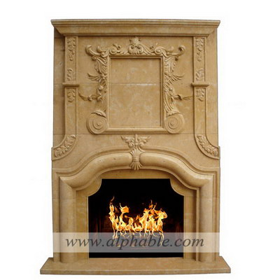 Carved stone overmantel fireplace SF-176