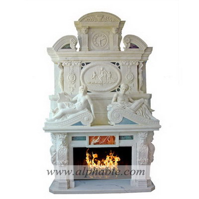 Luxury stone fireplace overmantel SF-177