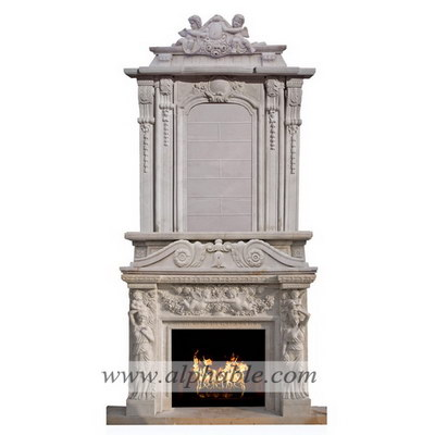 Luxury marble overmantel SF-190