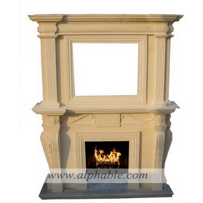 Limestone fireplace mantel SF-200