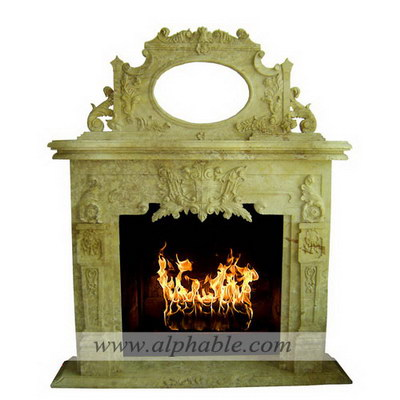 Over mantel with mirror frame SF-226