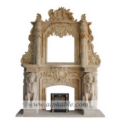 Giant marble overmantel SF-250