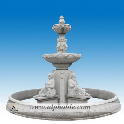 Granite front yard fountains SZF-090