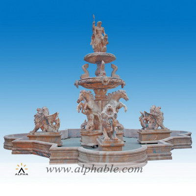 Natural marble large outdoor fountains SZF-095