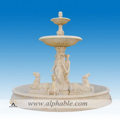 Italian design outdoor large water feature SZF-096