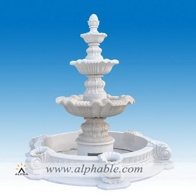 Classic design marble patio water fountain SZF-097