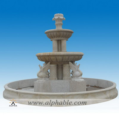 Carved granite giant landscape fountain SZF-098