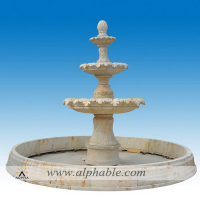 Large outdoor 3 tier water fountain SZF-100