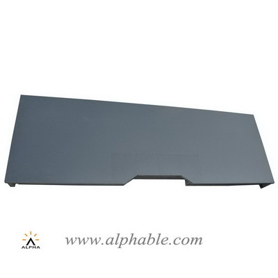 Connected black granite hearth honed surface GF-004