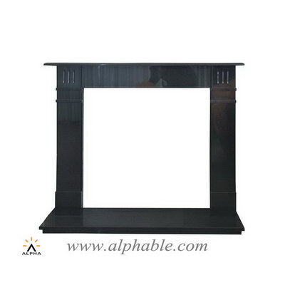 Black granite fireplace mantel and hearth SFG-003