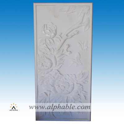 Flower marble relief SR-028