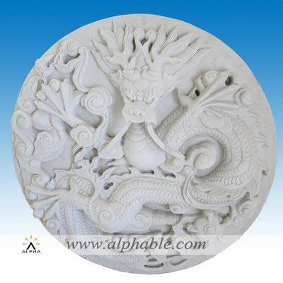 Carved stone wall relief sculpture SR-030