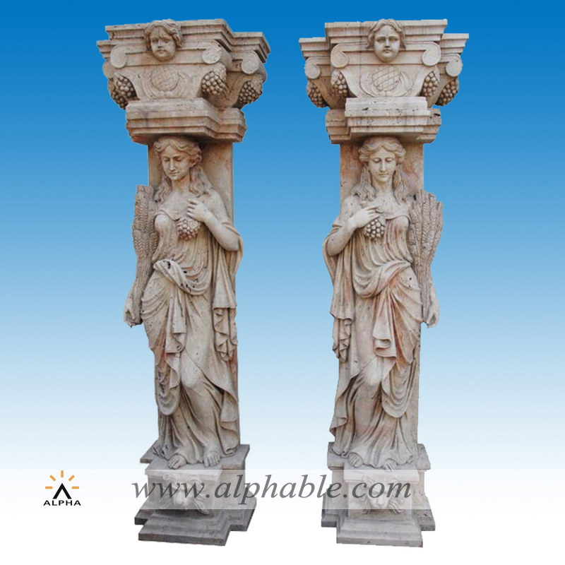 Roman design travertine columns SP-061