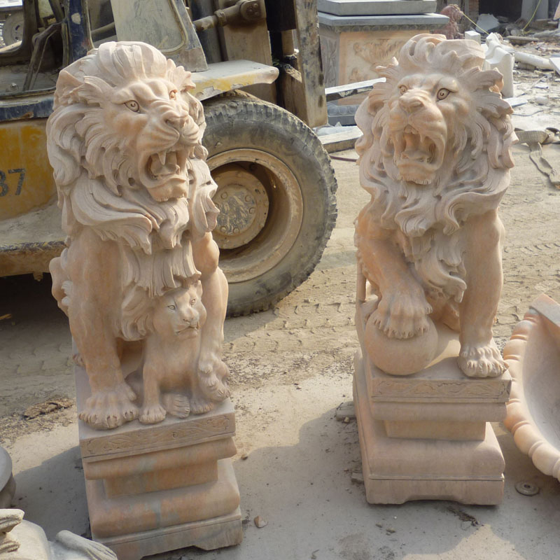 Europen marble lion IMG_0849 height 128 cm