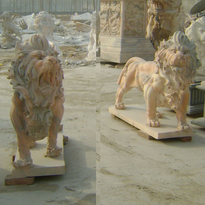 Walking marble lions IMG_0851 length 160 cm