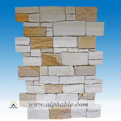 Stacked stone wall interior CLT-089